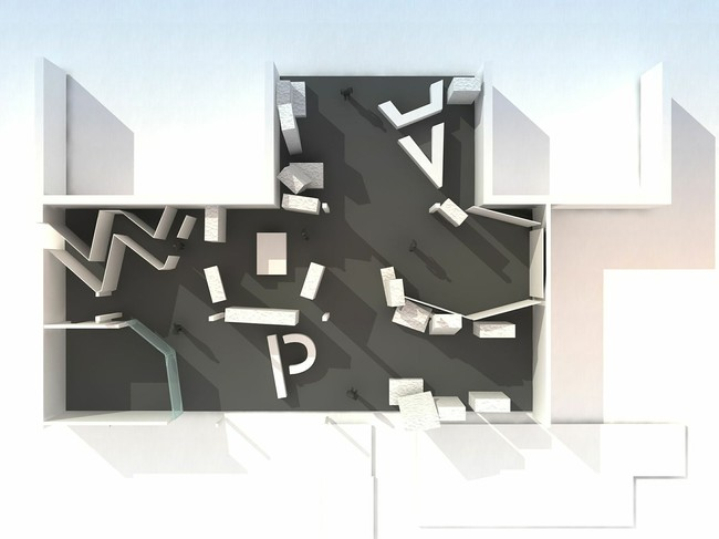 Rendering for Frieze Projects space