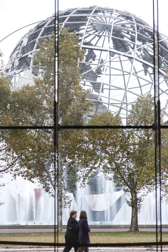 View of the Unisphere from the museum's main hall.
