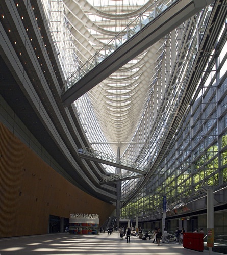 A range of existing facilities will be used for the 2020 Summer Olympic and Paralympic games, including Rafael Viñoly's Tokyo International Forum, a civic complex completed in 1996.