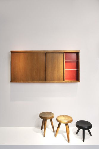 Charlotte Perriand<br />Bathroom cabinet (1959)<br />Oak&#160; <br />Provenance: Jean and Huguette Borot&#8217;s house, Paris