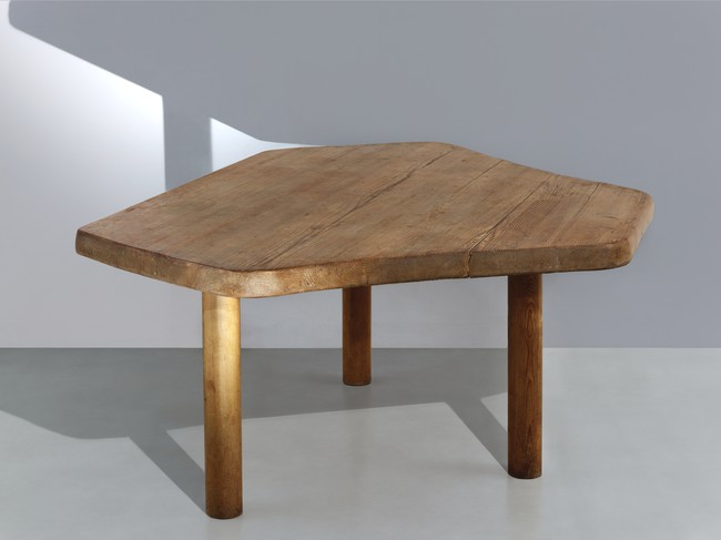 Charlotte Perriand<br /> Six angled table (1950)<br /> Wood<br /> Provenance: The Coquatrix apartment, Paris