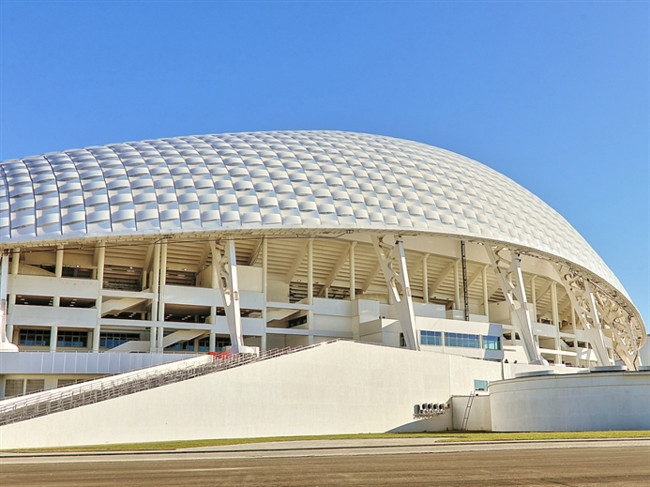 <strong>Fisht Olympic Stadium</strong><br /><strong>Architect: Populous </strong><br />The Fisht Olympic Stadium, which will house the opening and closing ceremonies, features a shell-like polycarbona