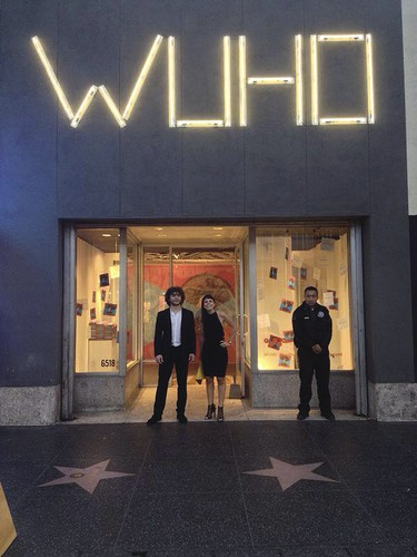 Cityvision founders Francesco Lipari and Vanessa Todaro in front of the WUHO Gallery in Los Angeles.