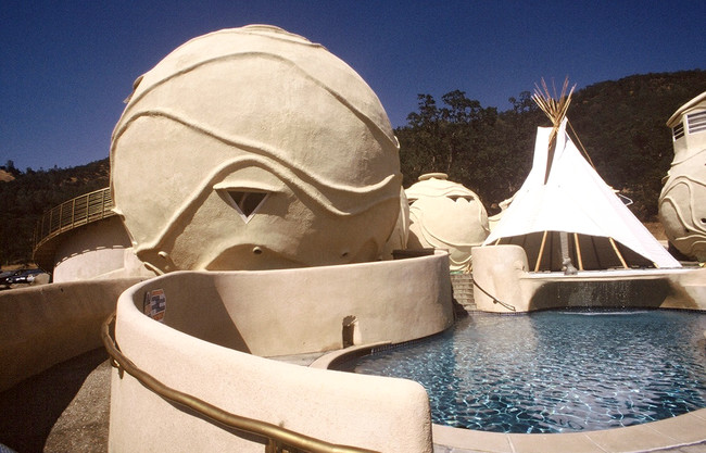 The Watsu Center at Harbin Hot Springs, in Middletown, California, designed by Eugene Tssui.