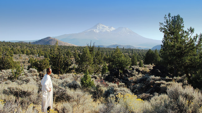 Tssui in Mount Shasta, California. <em>TELOS</em> production still.<br />
