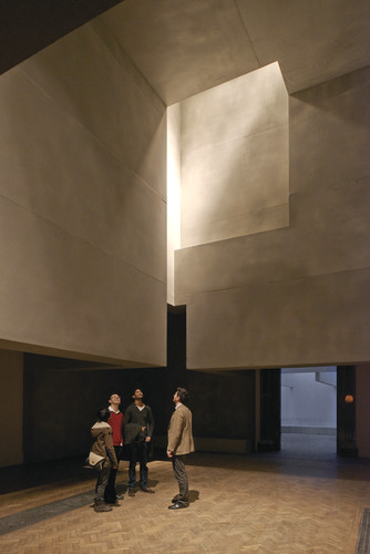 Grafton Architects installed a series of sculptural, suspended volumes in the roof.<br />