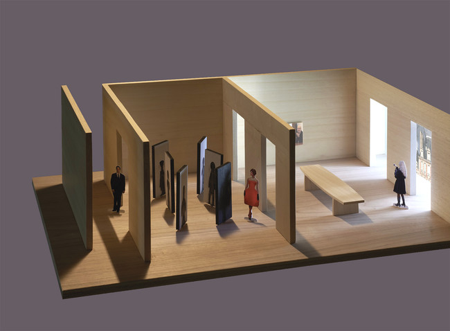 A maquette of the Fuksases' installation for <em>Where Architects Live</em>.