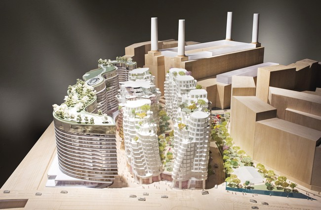 Frank Gehry and Foster + Partners unveiled their designs for residential  buildings that will be part of London's redeveloped Battersea Power  Station site.