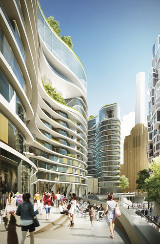 The design inclides a new high street for London, dubbed The Electric Boulevard. This will be the main gateway to the entire 42-acre Battersea development, connecting the Northern Line Extension stati