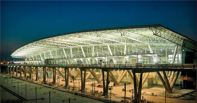 Schwartz's firm designed four airports in India with Gensler and Creative Group. This 1.6 million-square-foot terminal is in Chennai.