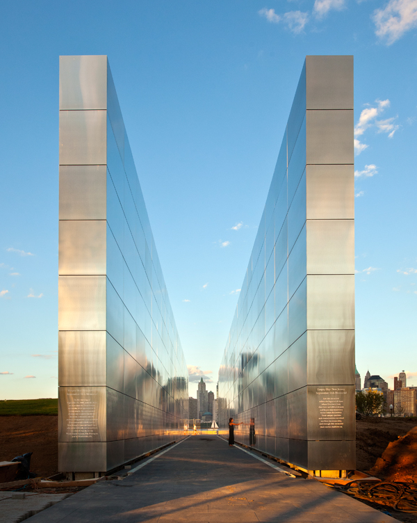 "Dubbed ""Empty Sky,"" Schwartz's monument on the Hudson River in Jersey City, New Jersey, honors the 744 men and women who hailed from the state and lost their lives on 9/11."