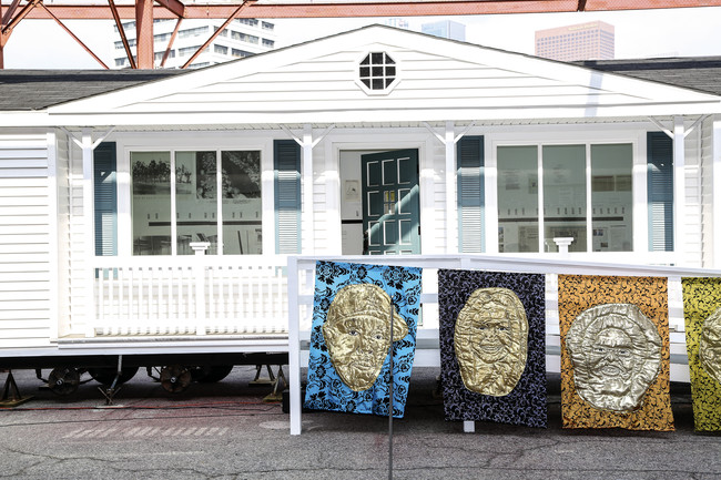 <em>Mobile Homestead</em> was developed by Kelley with Artangel and the Museum of Contemporary Art Detroit as a community space, and is based on the artist's childhood home in the Detroit suburb of We