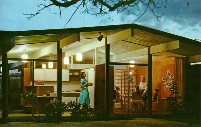 Eichler model home advertisement, c. 1960.