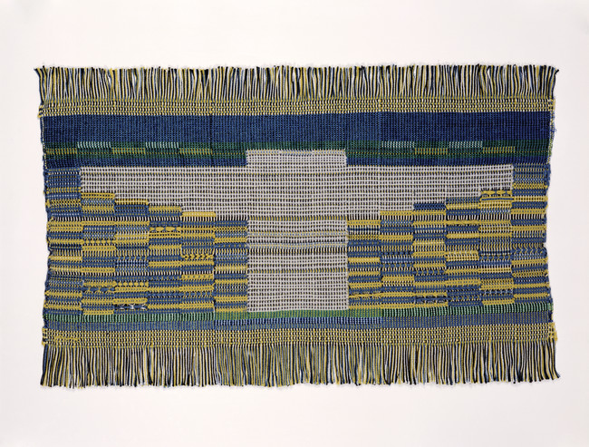 Anni Albers, Sheep May Safely Graze, 1959. Synthetic fiber; woven: plain weave and leno, 14 ½ x 23 ½ in.
