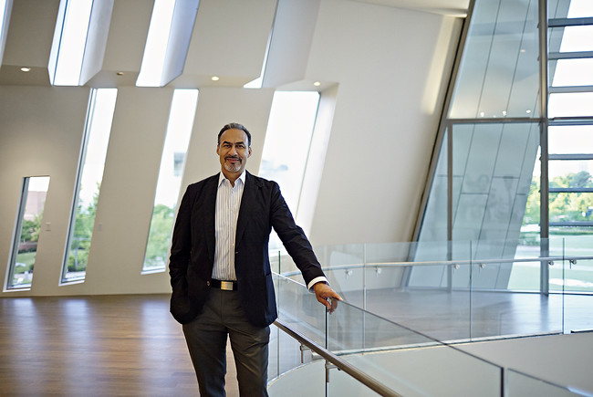 Phil Freelon at the Center, which he designed with HOK.<div id='_mcePaste'>&#65279;&#65279;