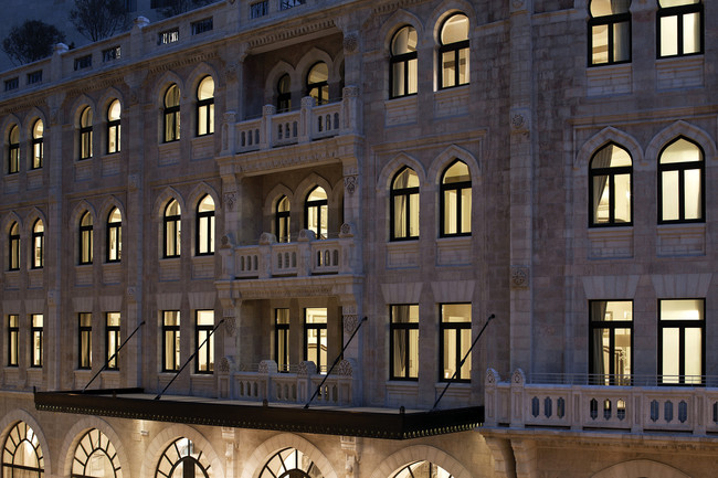 The original hotel was completed in 1929. Jerusalem has strict standards for preservation of historic sites, and the Palace Hotel façade has been meticulously restored.