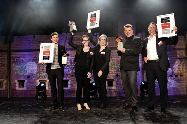 The North American recipients of the Holcim Awards (left to right): David Benjamin, Caitlin Taylor, Amy Mielke, Kai-Uwe Bergmann, and Matthijs Bouw. <br /><div id='_mcePaste'>&#65279;&#65279;