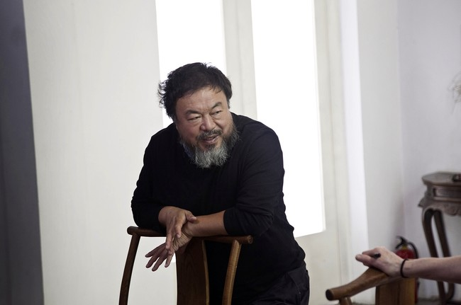 Ai Weiwei at his studio in Beijing.