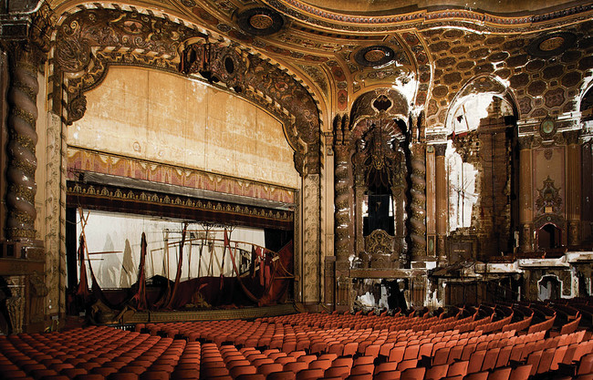 The theater before renovation began.