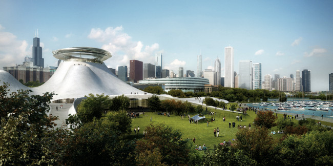 MAD architects founder Ma Yansong recently revealed the first renderings of his firm's Lucas Museum of Narrative Art.<div id='_mcePaste'>&#65279;&#65279;