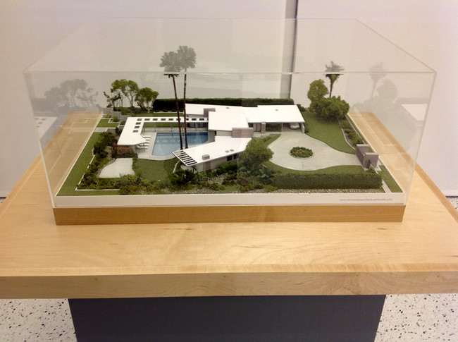 A model of E. Stewart Williams' house for Frank Sinatra.