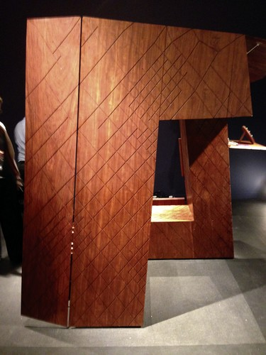 Gallery ALL displayed a wood cabinet in the shape of Rem Koolhaas and Ole Scheeren&#8217;s CCTV tower.<div id='_mcePaste'>&#65279;&#65279;