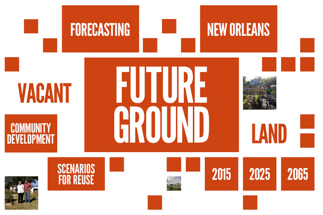 Future Ground, a competition organized by the Van Alen Institute, inviting multidisciplinary teams to generate flexible design and policy strategies to reuse vacant land in New Orleans.<div id='_mcePa