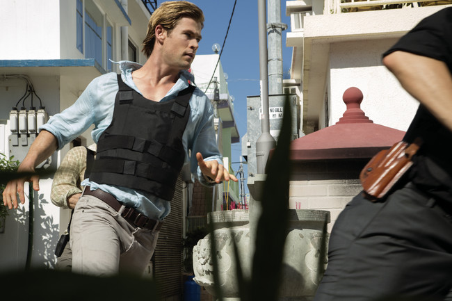Chris Hemsworth stars as Nicholas Hathaway in <em>Blackhat</em>, from director/producer Michael Mann. The movie is set within the world of global cybercrime, from Chicago to Los Angeles to Hong Kong t