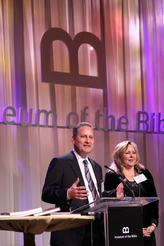 Steve Green (pictured with his wife Jackie), chairman of the board for Museum of the Bible, has one of the world's largest private collections of rare biblical texts and artifacts.