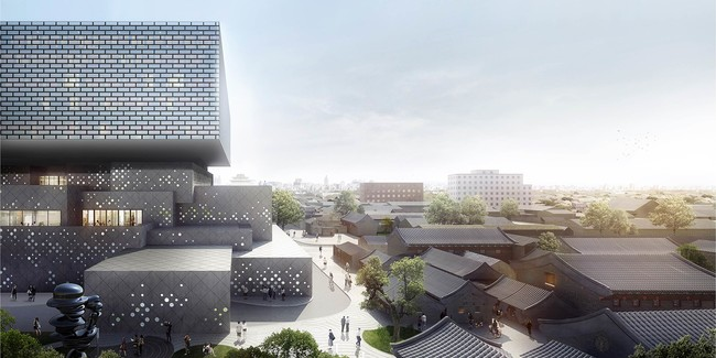 New Auction House by Ole Scheeren Rises in Beijing