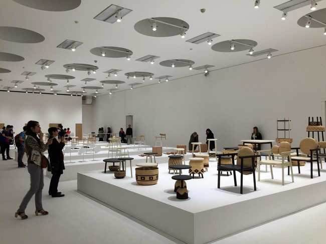 The second floor of Nendo's exhibit featured an eclectic array of work for numerous manufacturers.