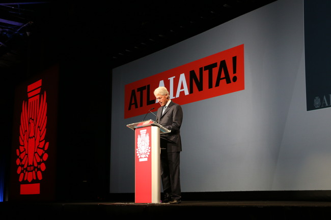 Bill Clinton gives the opening keynote at the 2015 AIA convention in Atlanta.<div id='_mcePaste'>&#65279;&#65279;