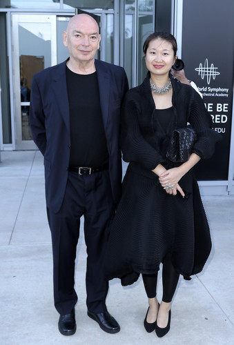 Jean Nouvel (left) and Lida Guan.