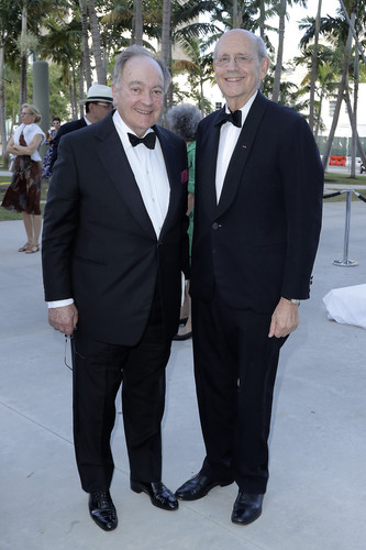 Lord Peter Palumbo (left) and Justice Stephen Breyer.