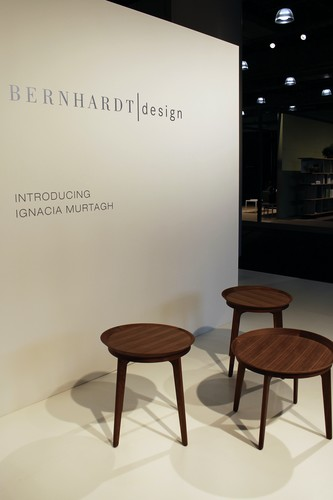 Bernhardt Design showcased several new works, including seating by Korean-born designer Brandon Kim and walnut tables by Chilean designer Ignacia Murtagh.<div id='_mcePaste'>&#65279;&#65279;