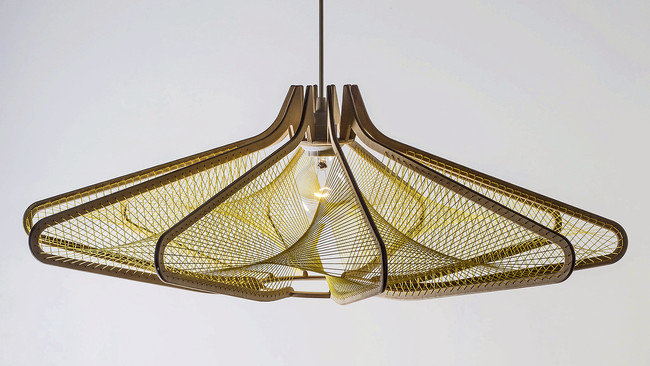 ODO, a woven pendant made of nylon and birch, was designed by Atlanta-based Wake Up Dear.<div id='_mcePaste'>&#65279;&#65279;