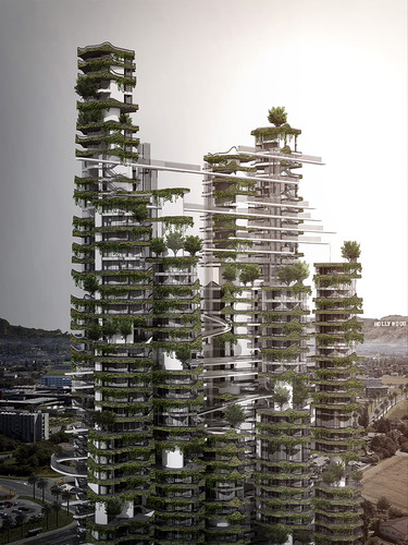 A high-rise design by Ma Yansong's MAD Architects.