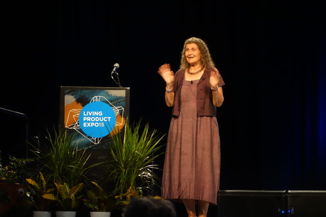 Biophysical chemist and mountain climber Arlene Blum spoke about her efforts to rid consumer products of the most hazardous chemicals and her experiences scaling some of the world's most dangerous pea