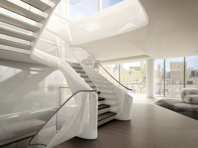 A Glimpse into Zaha Hadid's Luxe Residential Project in New York