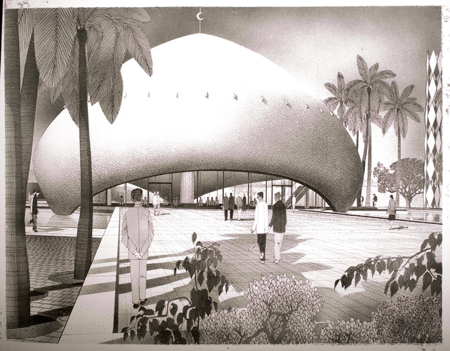 A design for the University of Baghdad inspired a young Zaha Hadid.