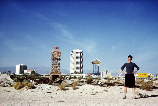 Denise Scott Brown strikes a pose in Las Vegas.