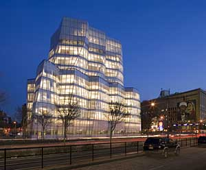 InterActiveCorp headquarters in New York City, designed by Gehry Partners/STUDIOS Architecture