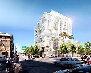 Behnisch Architekten has designed a new law school for the University of Baltimore.