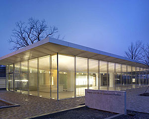 A new Toshiko Mori-designed visitor center is opening on March 18 at the Darwin D. Martin House complex in Buffalo, New York.
