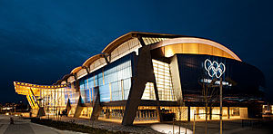 The 8,000-seat Richmond Olympic Oval, by Cannon Design, was completed last fall.