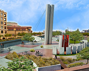 Work is expected to begin in January on a bridge Paolo Soleri designed, in collaboration with Douglas Architects, for Scottsdale.