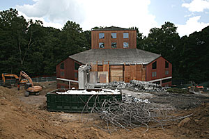 Construction has begun on an expansion to the Temple Beth El of Northern Westchester, designed by Louis Kahn.