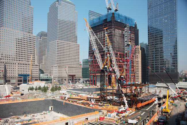 A memorial and a tree-filled plaza will be completed next year, in time for the 10th anniversary. The museum will open in 2012. And the steel framing for One World Trade Center is visibly rising. Whil