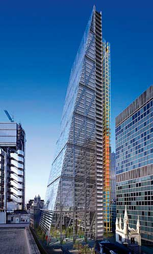 Leadenhall Building in London, by Richard Rogers.