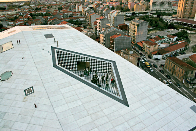 One of OMA's many projects scattered around the globe, the Casa de Música opened in Porto, Portugal, in 2005.